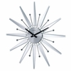 Mirrored Sunburst Wall Clock