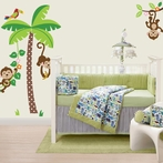 Mischievous Monkeys Wall Decals