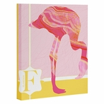Miss Flamingo Wrapped Canvas Art
