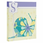Miss Snail Wrapped Canvas Art