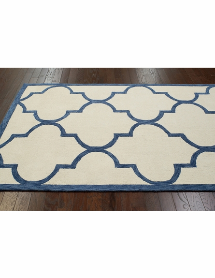 Mitsy Cotton Rug in Blue