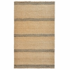 Mixed Jute Weaves Rugged Stripe Grey and Natural Rug