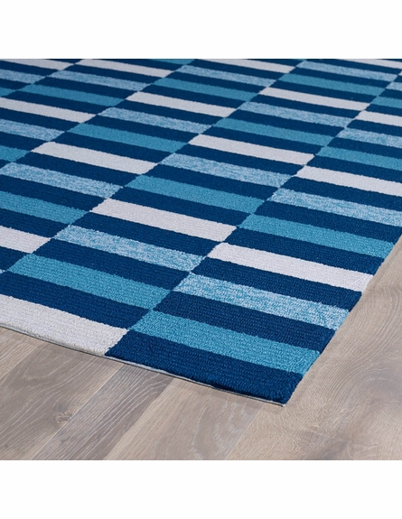 Mixed Stripes Matira Rug in Blue