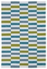 Mixed Stripes Matira Rug in Ivory and Blue