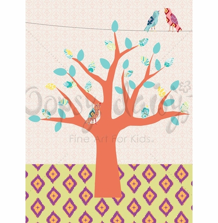 Mixed Up Tree Canvas Wall Art