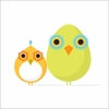 Mod Bird Duo Canvas Wall Art