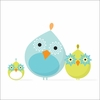 Mod Bird Family Canvas Wall Art