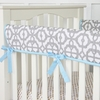 Mod Blue Crib Rail Cover