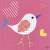 Mod Chick on Hot Pink Canvas Wall Art