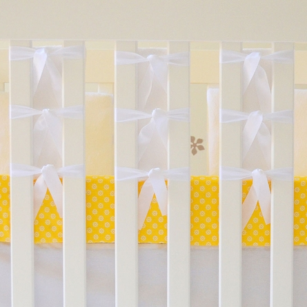 Mod-Dots Crib Sheet in Sunshine Yellow