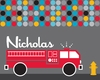Mod Fire Truck Canvas Wall Art