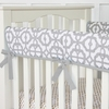On Sale Mod Gray Crib Rail Cover