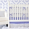 Mod Lattice Crib Bedding Set in Lavender