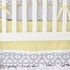 Mod Lattice Crib Bedding Set in Yellow and Gray