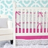 Mod Lattice Crib Bumper in Fuchsia and Gray