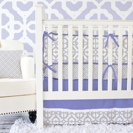 Mod Lattice Crib Bumper in Lavender