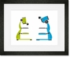 Mod Microscopes - Cool Framed Art Print