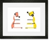 Mod Microscopes Framed Art Print