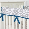 Mod Navy Crib Rail Cover