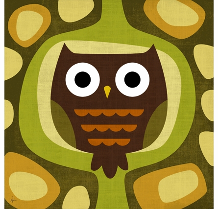 Mod Owl Canvas Reproduction