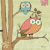 Mod Owls I Canvas Wall Art