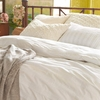 Mod Pintuck White Duvet Cover