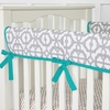 Mod Teal Crib Rail Cover