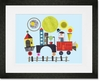 Mod Train Framed Art Print