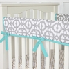 Mod Turquoise Crib Rail Cover