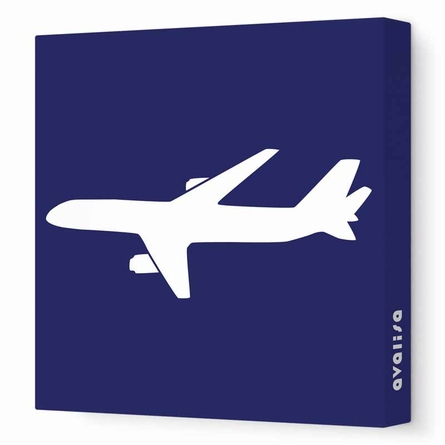 Modern Airplane Canvas Wall Art