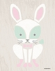 Modern Animals Bunny Canvas Wall Art