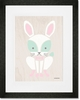 Modern Animals Bunny Framed Art Print