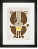 Modern Animals Honey Bear Framed Art Print