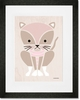 Modern Animals Kitty Framed Art Print
