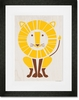 Modern Animals Lion Framed Art Print