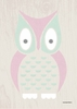 Modern Animals Owl Canvas Wall Art