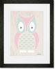 Modern Animals Owl Framed Art Print