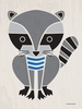 Modern Animals Raccoon Canvas Wall Art