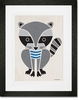 Modern Animals Raccoon Framed Art Print