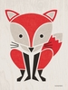 Modern Animals Red Fox Canvas Wall Art