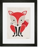 Modern Animals Red Fox Framed Art Print