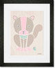 Modern Animals Squirrel Framed Art Print