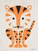 Modern Animals Tiger Canvas Wall Art