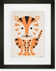 Modern Animals Tiger Framed Art Print