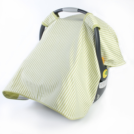 Modern Berries Car Seat Canopy in Spring Green