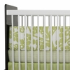 Modern Berries Crib Bumper in Spring Green