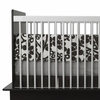 Modern Berries Crib Bumper in Tree Trunk Brown