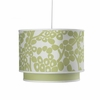 Modern Berries Motif Double Cylinder Pendant Light in Spring Green