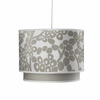 Modern Berries Motif Double Cylinder Pendant Light in Taupe