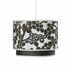 Modern Berries Motif Double Cylinder Pendant Light in Tree Trunk Brown